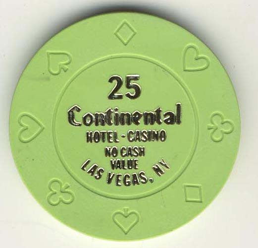 Continental 25 no cash value (green 1990s) Chip - Spinettis Gaming - 1