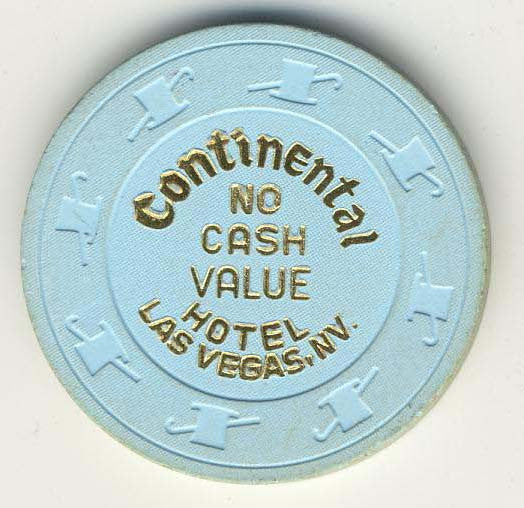 Continental no cash value (lt.blue 1980s) Chip - Spinettis Gaming - 1
