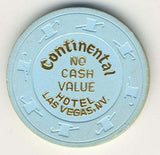 Continental no cash value (lt.blue 1980s) Chip - Spinettis Gaming - 2