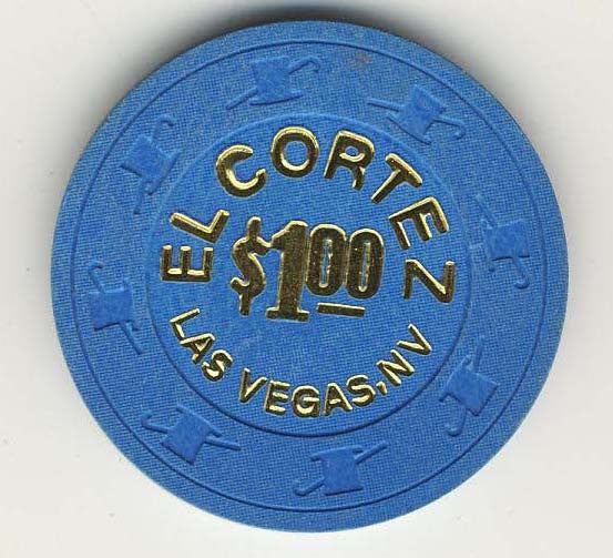 El Cortez $1 (blue 1997) Hot Stamped Chip
