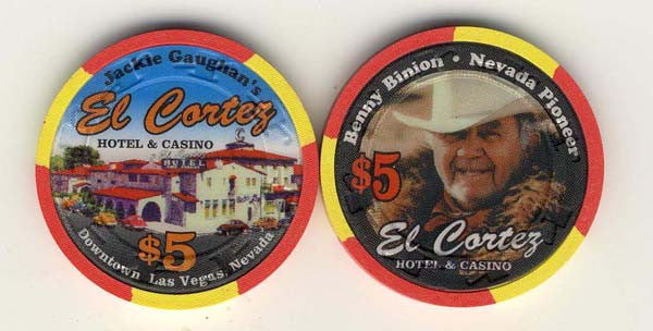 El Cortez $5 ( Benny Binion red 1995) Chip