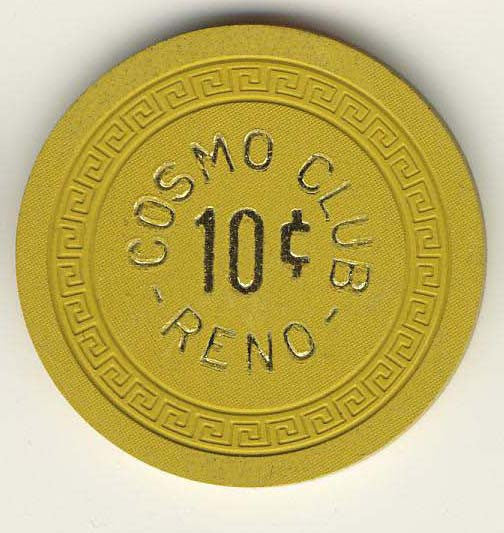 Cosmo Club 10 (yellow 1960s) Chip
