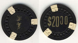 Cosmo Club $20 (black 1956) Chip - Spinettis Gaming - 2