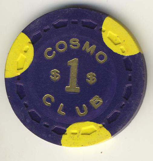 Cosmo Club $1 (purple 1964) Chip
