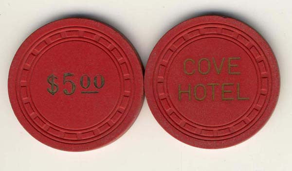 Cove Hotel $5 (red 1965) Chip - Spinettis Gaming - 1