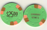 Cowboy Genes $25 (green 1979) Chip - Spinettis Gaming - 2
