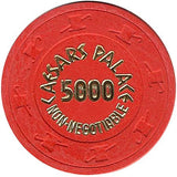 Caesars Palace Casino 5000 (non-negotiable) Chip - Spinettis Gaming - 2