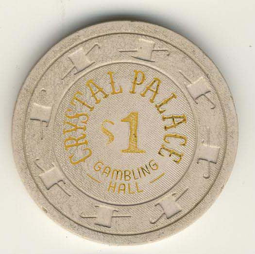 Crystal Palace Casino Laughlin $1 Chip 1978 - Spinettis Gaming