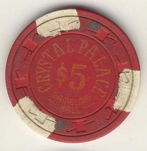 Crystal Palace Casino Laughlin $5 Chip 1978 - Spinettis Gaming