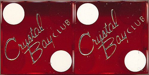 Crystal Bay Club Used Casino Dice, Pair