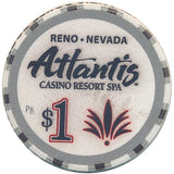 Atlantis, Reno NV (Ceramic Chip) $1 Casino Chip - Spinettis Gaming - 1