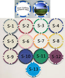 Custom Poker Chip Ball Marker for Golf (set of 5) - Spinettis Gaming - 2