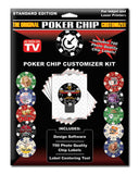 Poker Chip Customizer Kit With Labels - Spinettis Gaming