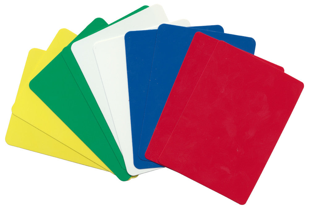 10 Poker Size Cut Cards - 5 Different Color Packet Set