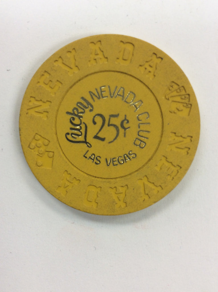 Lucky Nevada Club Casino Las Vegas NV 25 Cent Chip 1967