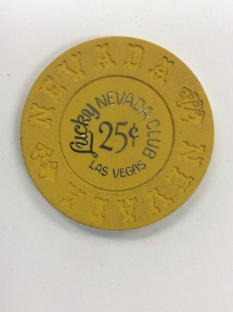 Lucky Nevada Club 25cent chip - Spinettis Gaming