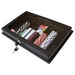 ABS Thick plastic poker dealer tray with cover and lock - Spinettis Gaming - 1