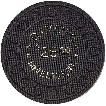 Davin's $25 (black) Chip - Spinettis Gaming - 1