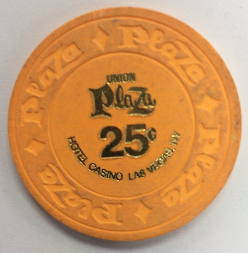 Union Plaza Casino Las Vegas NV 25 Cent Chip 1970s House Mold