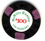 DeVille Casino $100 (black 1970s) Chip - Spinettis Gaming - 1