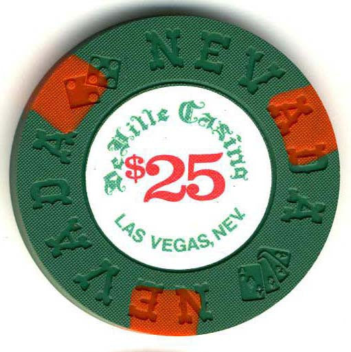 DeVille Casino $25 (green 1970s) Chip