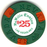 DeVille Casino $25 (green 1970s) Chip - Spinettis Gaming - 1