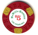 DeVille Casino $5 (red 1970s) Chip - Spinettis Gaming - 2