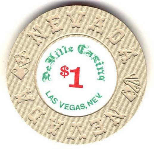 DeVille Casino $1 (cream 1970s) Chip - Spinettis Gaming - 1