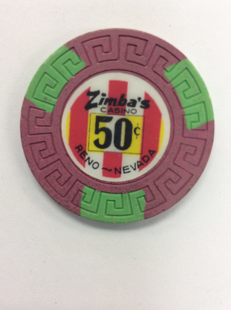 Zimba's Casino Reno 50¢ chip (1971)