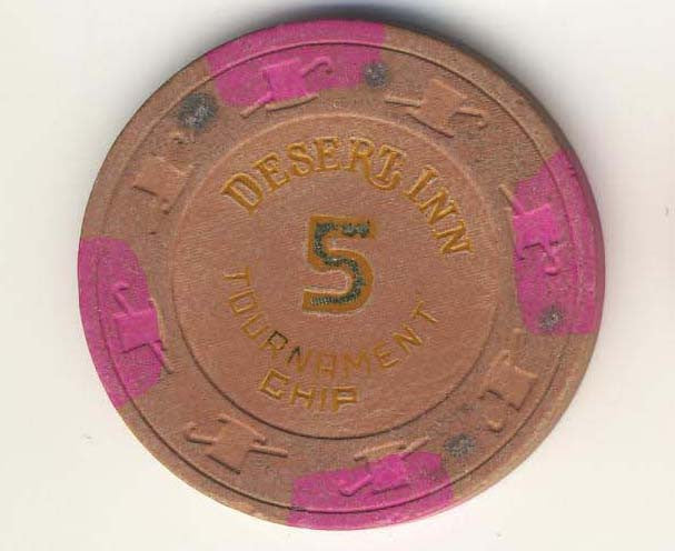 Desert Inn Casino Las Vegas 5 Tournament NCV Chip 1980s