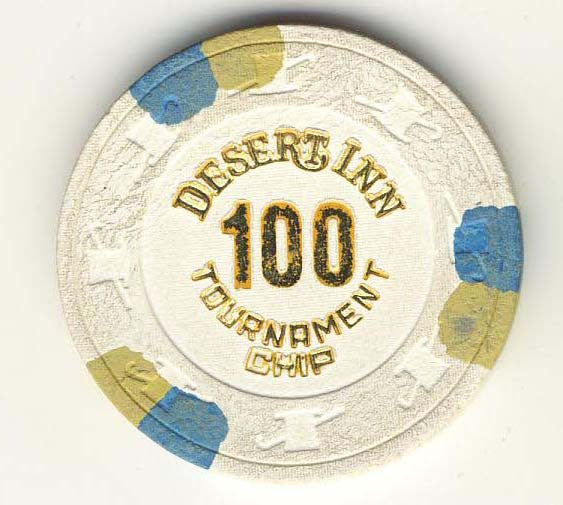 Desert Inn Casino Las Vegas 100 Tournament NCV Chip 1980s