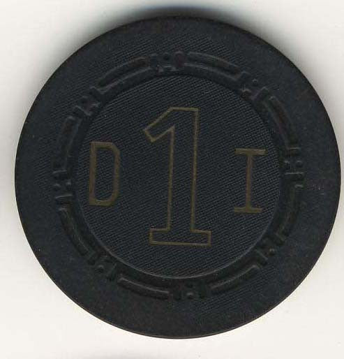 Desert Inn Las Vegas Roulette Chip 1958 Black - Spinettis Gaming