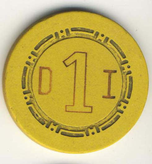 Desert Inn Las Vegas Roulette Chip 1958 Yellow