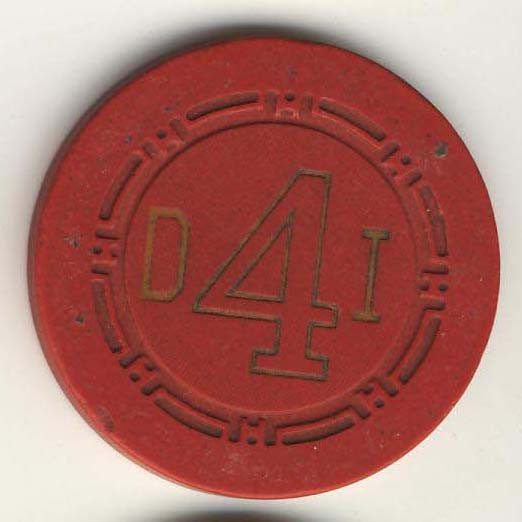 Desert Inn Las Vegas Roulette Chip 1958 Red