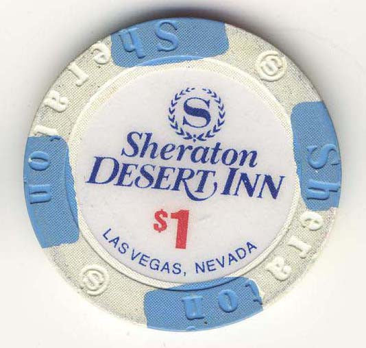 Desert Inn Sheraton $1 (white 1993) Chip - Spinettis Gaming - 1