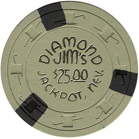 Diamond Jim's Casino Jackpot $25 Chip 1960