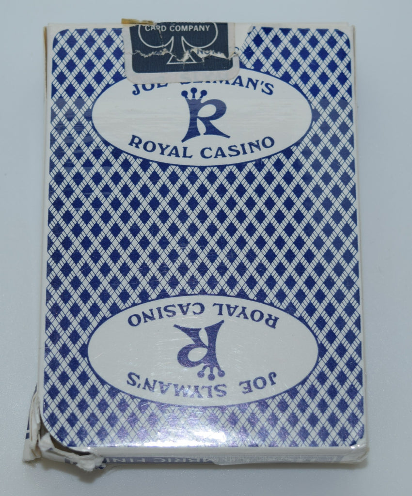 Joe Slyman's Royal Casino Used Blue Playing Card Deck
