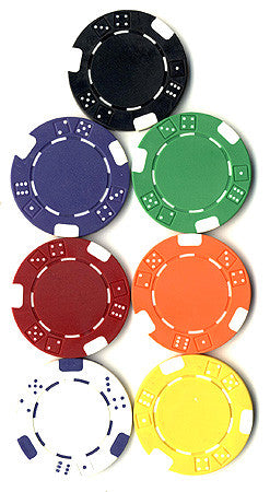 Double Dice Poker Chips