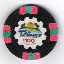 Dunes Casino $100 chip 1989 (uncirculated)