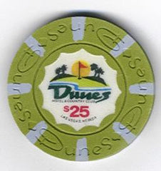 Dunes Casino $25 chip 1989 (uncirculated) - Spinettis Gaming
