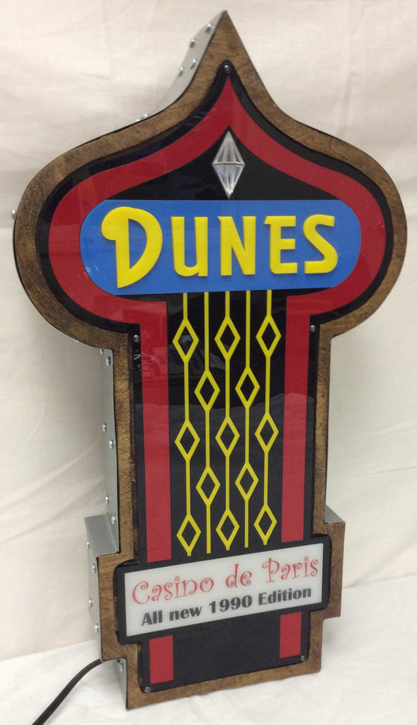 Dunes Casino Marquee Sign Lighted Replica
