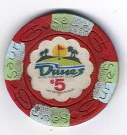 Dunes $5 Golf Course Casino Chip (Circulated) - Spinettis Gaming