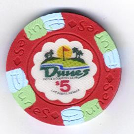 Dunes Casino Las Vegas $5 Chip 1989 (Uncirculated)