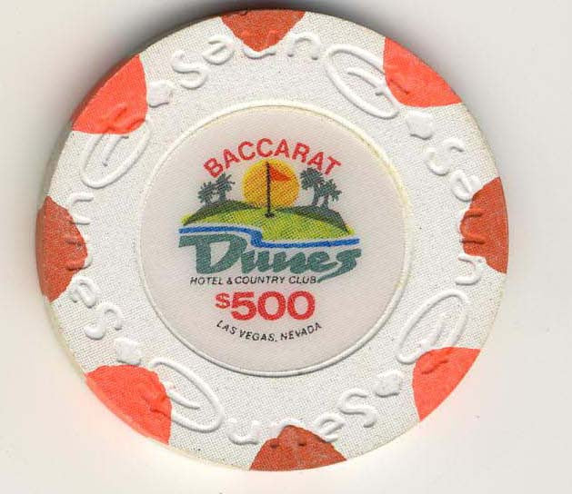 Dunes $500 baccarat (white 1989) Chip - Spinettis Gaming - 2