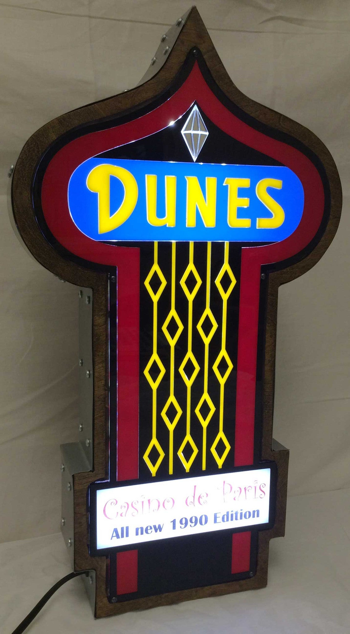 Dunes Casino Marquee Sign Lighted Replica Spinettis