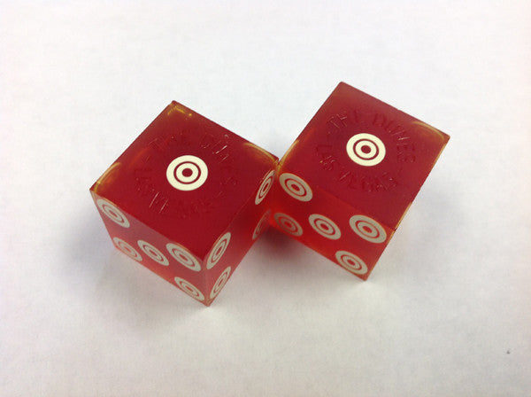 Dunes Hotel and Casino From Las Vegas Nevada Used Red Dice From 1970's, Pair - Spinettis Gaming - 3