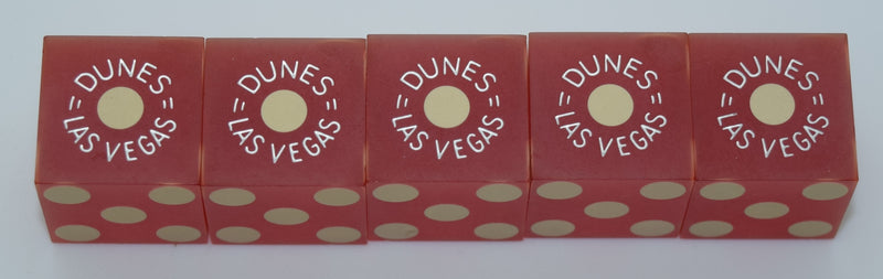 Dunes Casino Stick of 5 Dice Las Vegas Matching Numbers