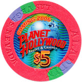 Aladdin Resort Las Vegas $5 Chip 2004