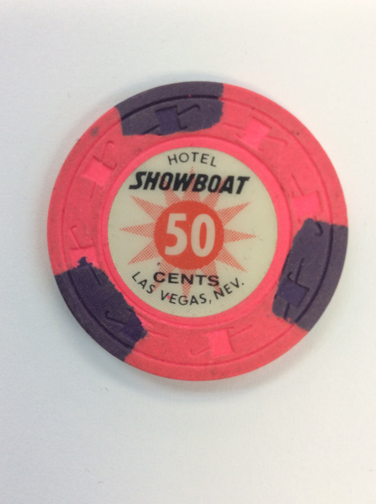 Showboat Casino Las Vegas NV 50 Cent Chip 1980s