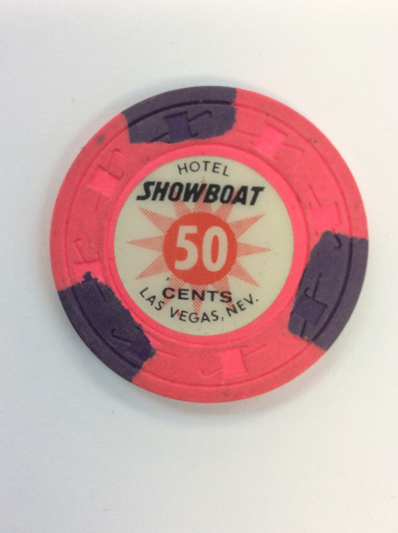 Showboat 50cent (pink) chip - Spinettis Gaming